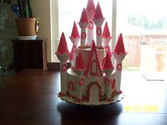 Girly Castle Cake By Tabitha Rodriguez @ Tabi's Custom Creations