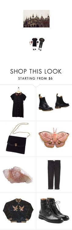 """the lady and gentleman wish to take their tea in the garden"" by alta-alatis-patent ❤ liked on Polyvore featuring Motel, Marc Jacobs, Dr. Martens, Current/Elliott and Maison Margiela"