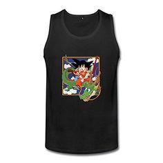 Boyfriend Dragon Ball Z Goku And Dragon Design Graphic Tank Tops @ niftywarehouse.com