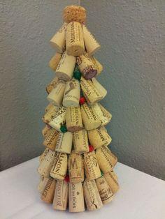 Albero di Natale con tappi di sughero n.04