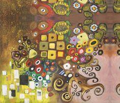 Klimt Tribute fabric on Spoonflower