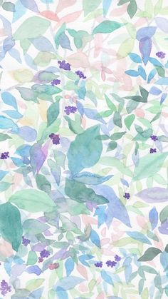 Small fresh floral background watercolor background background background h Watercolor Leaves, Watercolor Background, Pastel Watercolor, Watercolor Design, Phone Backgrounds, Wallpaper Backgrounds, Trendy Wallpaper, Wallpaper Pictures, Frame Floral