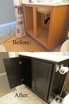 Turn outdated cabinets into something more modern!