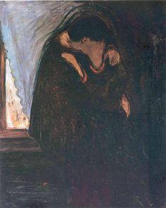 Edvard Munch (1863-1944, Norway) | Kiss, 1897 (Oslo, Munch Museum)