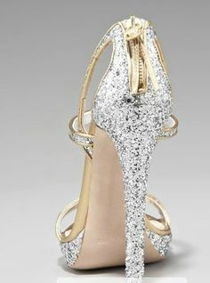 Gorgeous silver & gold shoes
