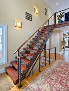 Contemporary Stairs And Cable Railing In Katonah NY