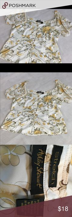 Ashley Stewart top Floral rayon spandex blouse. No tags but never worn. Smile free home. Ashley Stewart Tops Blouses