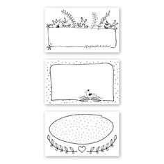 Etiketten - Marmeladen Etiketten schwarzweiß, 21 Stück - ein Designerstück von die-sachen-macher bei DaWanda