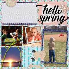 Project Life layout using Spring Fever Kit