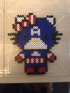 Hello Kitty Captain America perler beads by Jenny Long