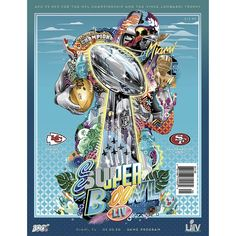 Title: Super Bowl LIV Poster artist: Tristan Eaton Edition: edition, hand signed and numbered out of only 292 that were printed Year: 2020 Type: Exclusive limited edition fine art print, embossed with silver stamp Size: Location: Miami, Florida Chiefs Super Bowl, 49ers Vs, Commercial Art, Kansas City Chiefs, Minnesota Vikings, San Francisco Giants, Miami Florida, New York Giants, Oakland Raiders