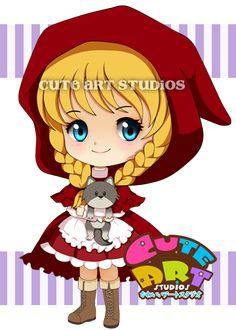 Red Riding Hood Chibi by crowndolls