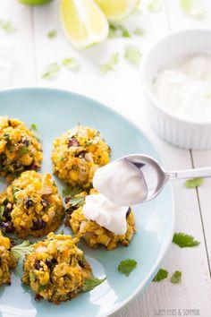Chunky Baked Corn & Black Bean Falafels | sweetpeasandsaffron.com