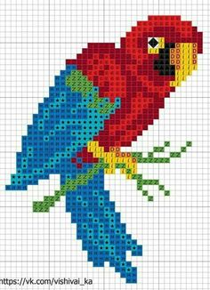 Embroidery patterns cross stitch birds 52 New ideas Cross Stitch Cards, Cross Stitch Alphabet, Cross Stitch Animals, Cross Stitching, Cross Stitch Embroidery, Hand Embroidery, Cross Stitch Designs, Cross Stitch Patterns, Broderie Simple