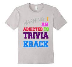 """Men's """"I Am Addicted To Trivia Krack"""" T-Shirt Small Silver I Am Addicted To Trivia Krack http://www.amazon.com/dp/B01CM25CUQ/ref=cm_sw_r_pi_dp_W1K3wb0QVACQ1"""