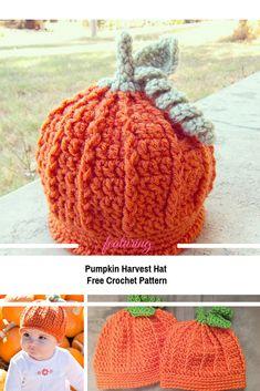 Pumpkin Beanie For Baby & Toddle Crochet Pattern Loom Knitting For Beginners, Crochet For Beginners, Halloween Crochet, Holiday Crochet, Crochet Pumpkin Pattern, Crochet Baby Blanket Beginner, Crochet Ideas, Free Crochet, Crochet Projects