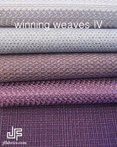 Meet our Winning Weaves IV :: visit our website to view the full collection.  www.jffabrics.com