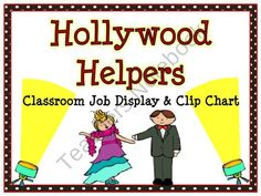 This fun, Hollywood themed classroom jobs clip chart will help make classroom management a breeze!