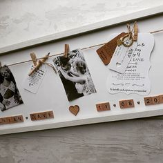 such a beautiful way to display your wedding invitations!