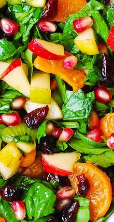 Thanksgiving Salad Spinach Salad with apples, pears