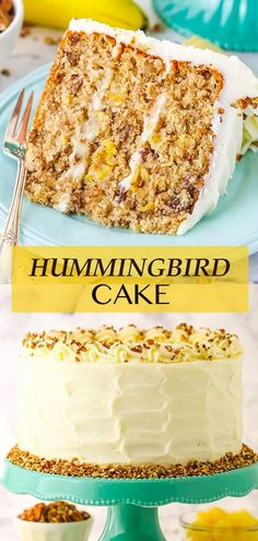 This Hummingbird Cake is tender, moist and delicious! An easy cake recipe full of banana, pineapple, pecans and spices, then covered in cream cheese frosting. Best Cake Recipes, Dessert Recipes, Yummy Treats, Delicious Desserts, Hummingbird Cake Recipes, Spiced Pecans, Smooth Cake, Cake Cover, Spice Cake