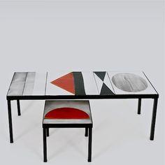 Roger Capron - Table basse à décor géométrique