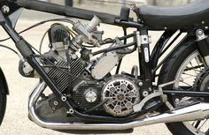"""1954 AJS Porcupine """" Racing Motorcycle"""" Frame no. Motor No / 54 Britain's first success in the modern era's Grand Prix World Racing Motorcycles, Custom Motorcycles, Engineering Works, The Legend Of Heroes, Race Engines, Combustion Engine, Motorcycle Engine, Road Racing, Scooters"""
