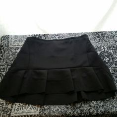 CONNECTION 18......CUTE..BLACK SKIRT. EXCELLENT CONDITION.  ,brand new with tags..,true to its color and size ...color black has cute ruffle skirt....95%polyester. 5.%spandex..has elastic waist band on waist for comfort..netter in person has no flaws......TAKING OFFERS........ CONNECTION 18 Skirts
