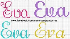Crochet Stitches Patterns, Stitch Patterns, Cross Stitch Designs, Embroidery, Cross Stitch Letters, Cross Stitch Font, Cross Stitch For Baby, Embroidery Applique, Hand Embroidery