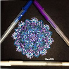 . . . . . . . . #art#mandala#drawing#doodle#flowers#gellyrollpens#moon#light#shades#colours#henna#design#pens#sakura#instaart#instaartist#instadrawing#passion#love#instaflower#rose#glitter#london#flowers#like