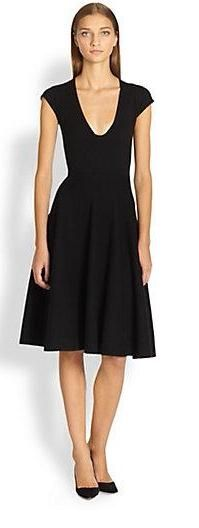 Donna Karan  Wool & Cashmere Knit Dress    Saks Fifth Avenue *******LOVE the neckline and clean lines