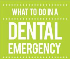 What to do in a dental emergency www.countryclubdentistry.com