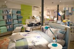 We have an entire floor filled with our bed & bath range at our Marylebone High street store