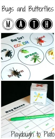 Bug WEEK: 2 printable bug games teach kids graphing and sorting - important early math skills. Preschool Bug Theme, Preschool Science, Preschool Lessons, Preschool Classroom, Classroom Activities, Kindergarten, Preschool Ideas, Insect Activities, Spring Activities