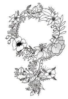 """Nevertheless, she persisted"" Feminist Flower Art Print by Mikaela Puranen Tattoo Girls, Girl Tattoos, Tatoos, Feminist Tattoo, Feminist Art, Feminist Quotes, Piercing Tattoo, Piercings, Trendy Tattoos"