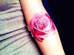 Pink rose tattoo...love love love it