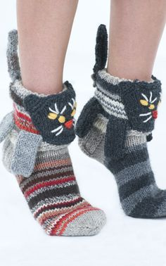 Knitting Pattern For Cat Socks : Sock, Orchards and Cow on Pinterest