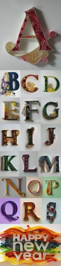 Alphabet Paper Quilling by Raelynn8