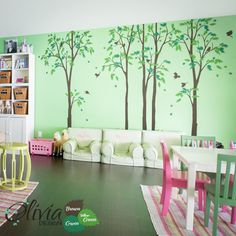 Satz von großen Wald Baum Wand Aufkleber von theOliviaDesign