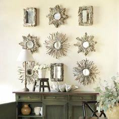 Driftwood mirrors are wonderful, and even more glorious in a beautiful wall collection!