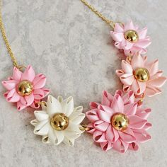 Pink Necklace Shades of Pink Colorful Necklace by PetalPerceptions, $22.00
