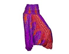 Women's Colorful Thai Harem Pants by AsianCraftShop