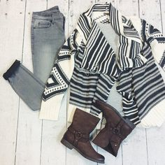 Cute and cozy outfit for any day.  #ShopGeezLouise