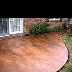 acid stain concrete