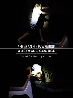 American Ninja Warrior inspired backyard obstacle course. A fun outdoor activity for summer nights!