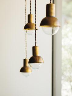 "thenoblehome:  "" Lights by Doug Newton  Photo via Nicole Hollis Interior Design  """
