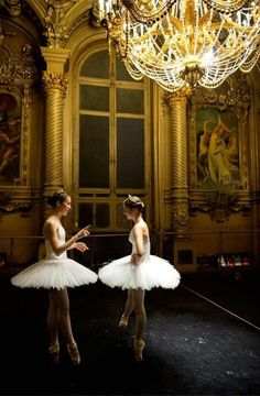 "Opera Ballet School pupils stand in the foyer de la danse before rehersal for the ""Générale"" performance at Opera Garnier on April 2013 in Paris, France - Pascal Le Segretain / Opera National de Paris / Getty Images Ballet School, Andre Kertesz, Ballet Photography, Ballet Beautiful, Foto Art, Lets Dance, Ballet Dancers, Ballerinas, Ballet Girls"