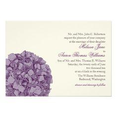 Shop Hydrangea Wedding Invitation created by pinklilypress. Wedding Save The Dates, Our Wedding, Dream Wedding, Wedding Ideas, Wedding Stuff, Invitation Card Design, Invitation Cards, Invites, Purple Hydrangea Wedding