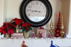"""Kathe With an E: Christmas Mantel Reveal - """"Dat Be Nice"""" link party #3"""