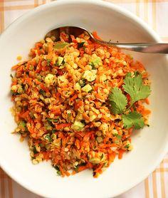 Post image for Red Lentil, Carrot & Avocado Salad